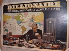 """You are purchasing a Used copy of """"Billionaire"""" Board Game by Parker Brothers. The game is complete. The game box shows moderate shelf wear. Now is the time to find out. Should you dabble in diamonds, gander in gambling, engage in electronics, or meander in metals?.   eBay!"""
