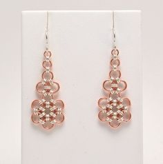 Japanese Earrings in Sterling Silver and by WindCloudChainmaille
