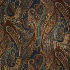 "Danny Lapis 56"" width Paisley Drapery Fabric, Curtain Fabric, Upholstery Fabric, and Table Linen Fabric by the yard on best price"