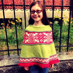 pixie poncho (pattern by spud & chloe, modified & made by me, modeled by the starchild)