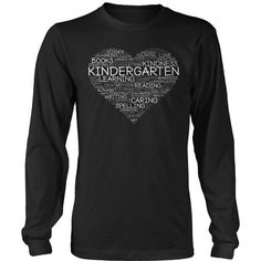 Kindergarten - Heart - District Long Sleeve / Black / S - 10