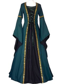 Medieval Dress-it may not be modern, but some older clothes are gorgeous and I am a bit of a fan of medieval dresses