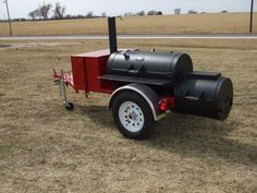 Marshal Smoke N Wagon Smoker Trailer (Item# — Horizon Smokers - Grilling Bbq Smoker Trailer, Bbq Pit Smoker, Trailer Smokers, Custom Bbq Smokers, Custom Bbq Pits, Offset Smoker, Diy Grill, Homemade Smoker, Food Truck Design