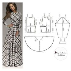 <img> S, M, L, XL Size Please comment to support & click begen button. Support to support us, please like and comment❤ - Fashion Sewing, Fashion Fabric, Diy Fashion, Fashion Dresses, Long Dress Patterns, Dress Sewing Patterns, Clothing Patterns, Sewing Clothes, Diy Clothes