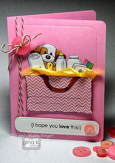 A card featuring Beyond Baskets 2 and Basket Additions 2 from Gina K. Designs