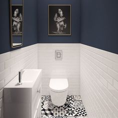 Having to get the upstairs toilet done as it keeps over flowing. This is my dream style. Husband sent it to me so not sure where the photo is from. Discount Bathroom Faucets, Wc Set, Small Toilet Room, Guest Toilet, Modern Bathroom Light Fixtures, Bad Styling, Downstairs Toilet, Bad Inspiration, Bathroom Design Small