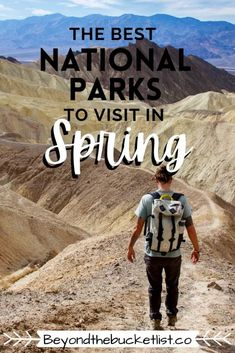 Planning a road trip in Spring? Here are the best National Parks to visit. | National Parks in Spring | usa national parks | National Parks in April | National Parks in March | National Parks in May | best national parks | best national parks for spring break | van life national parks | national park road trip | yosemite national park | death valley national park | national park map | best national parks in spring | National Park Passport, National Park Camping, National Parks Map, Usa Travel Guide, Travel Usa, Travel Tips, Death Valley National Park, Beautiful Places To Travel, Travel Aesthetic