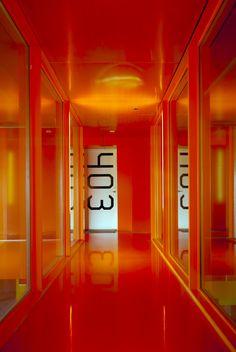 'Colourful Architecture' by Elka Nilsson, via 500px.com  [Entrance to frontdoor in 'Mountain Dwellings' Ørestad, Copenhagen]