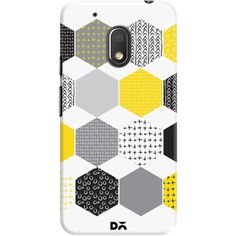 DailyObjects Yellow Hexagons Case For Motorola Moto G4 Play