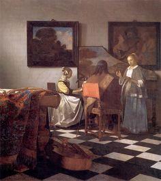 Le Concert, Jan Vermeer, 1664-67, Isabella Stewart Gardner Museum, Boston (tragically stolen)