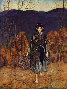 Arthur Rackham ~ from English Fairy Tales retold by F.A. Steel ~ Macmillan & Co. ~ 1918 ~  Donkeyskin?