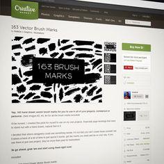 #designers! 163 #vector #brush marks on #creativemarket - $5 only :)