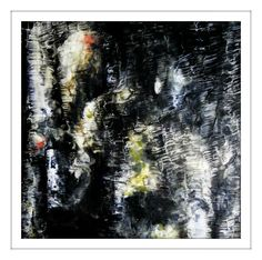 reflections II ~ 40 x 40 cm ~ encaustic on panel