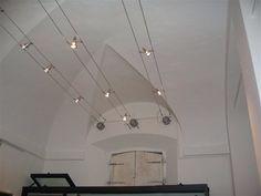 lampadario moderno acciaio cromo cristallo lampada sospensione ... - Lampadario Binario Faretti