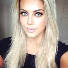 """Chloe Boucher - """"Have you seen my newest YouTube video? Link in bio ☄#YouTube #blogger #makeup #blonde #hair"""""""
