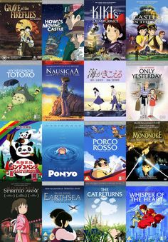@Blair Erickson Marie i found them i found all studio ghibli movies not on order though but still i found em
