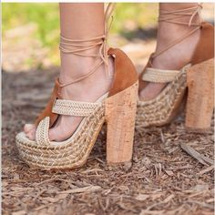Free People Platform Lace Up Sandals
