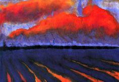 Evening Landscape North Frisia Emile Nolde