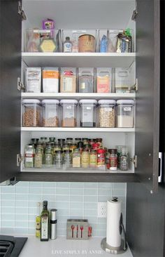 Doing this project this weekend! Easy kitchen organization.