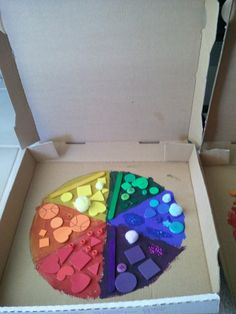 Rainbow pizzas-great color sorting activity