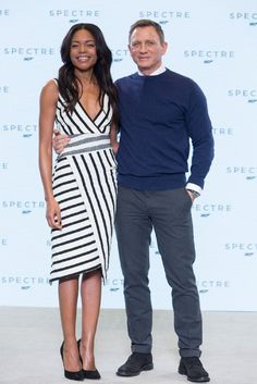 Daniel Craig and Naomie Harris at event of Spectre (2015)