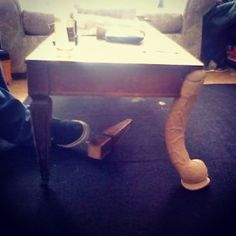 And this totally repaired coffee table. | 21 Design Fails That Will Make You Feel Better About Your Own Home