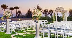 The Venue ~ Hilton Carlsbad Oceanfront Resort, CA - Wedding Shearwater Lawn at Sunset