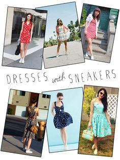 miskabelle vintage: How to Wear Vintage Dresses with Sneakers