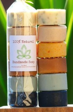 These packs contain a fantastic selection of all our best selling natural bars…. These packs contain a fantastic selection of all our best selling natural bars … Detox perfect for acne-prone skin or for a great … Diy Savon, Soap Packing, Soap Display, Homemade Soap Recipes, Bath Soap, Soap Molds, Handmade Soaps, Handmade Soap Packaging, Packaging Ideas