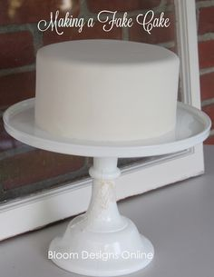 Tutorial on how to make a fake cake.