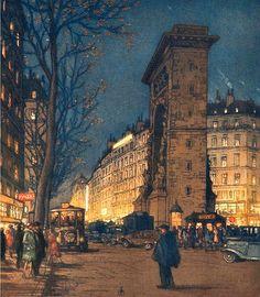 Boulevard Saint Denis in the Evening, 1916
