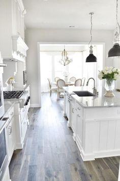 70 Gorgeous White Kitchen Design and Decor Ideas #whitekitchendesigns