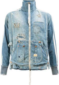 Shop men's Denim Jackets on Farfetch. Designer Denim Jacket, Denim Jacket Men, Denim Coat, Slow Fashion, Denim Fashion, Recycled Denim, Rock Style, Destruction, Man Shop