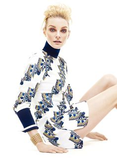 Jessica Stam by Yoo Young Kyu for Marie Claire Korea June 2015 - DIOR Pre-Fall 2015