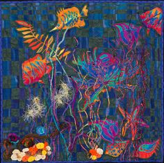"""""""Face of the Deep"""" by Cindy Williams.  The Art Quilt Association."""