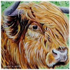 #Highlandcow 'Constance the Coo #gouache #art