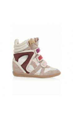 Isabel Marant Willow Leather And Suede Sneakers Multicolored #isabelmarant #boots #shoes #women #fashion #Halloween #blackFriday