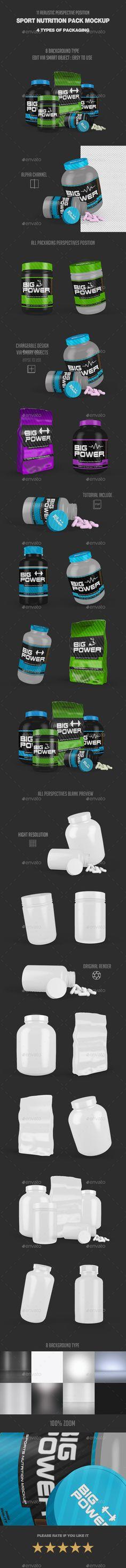 Sport Nutrition Pack Mock Up - #Product #Mock-Ups Graphics