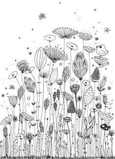 Illustration Art Drawing Doodles Zen Tangles 31 Ideas For 2019 Inspiration Art, Bullet Journal Inspiration, Flower Doodles, Doodle Flowers, Ink Doodles, Floral Doodle, Zentangle Patterns, Embroidery Patterns, Art Patterns