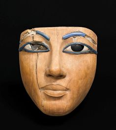 Masque de cercueil / Wooden Coffin/Mummy mask, Dynasty XVIII (ca. 1550-1295)