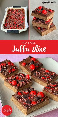 No bake Jaffa slice - Chocolate & Orange flavour slice - VJ cooks - Base milk chocolate sweetened condensed milk (about half a can) butter - Chocolate Hazelnut Cake, Chocolate Topping, Chocolate Orange, Chocolate Slice, Jaffa Kuchen, No Bake Desserts, Dessert Recipes, No Bake Slices, Jaffa Cake