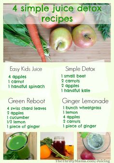 Healthy Juicing Recipes: 4 simple and easy juice recipes