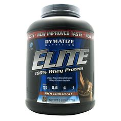 Dymatize Nutrition Elite 100% Whey Protein - Rich Chocolate 5 lbs Pwdr * Read more reviews of the product by visiting the link on the image.