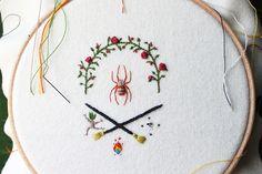 Minimal, nature inspired embroidery by Adam Pritchett