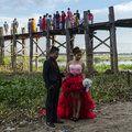 U bein bridge  Amarapura ,Mandalay, Myanmar.  http://en.wikipedia.org/wiki/U_Bein_Bridge