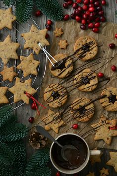 Christmas Cookies with Cranberries