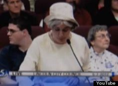 Nebraska Woman Offers Graphic Homophobic Rant During Lincoln's Anti-Discrimination Law Hearings (VIDEO)  - This is the absolute most disgusting, ignorant, hateful little old lady I've ever seen.  Bullshit like this, hidden under the guise of religious righteousness will be the downfall of society, not homosexuality.