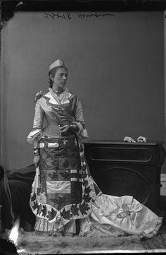 Mrs. Juchereau de St. Denis Le Moine in fancy dress, 1876