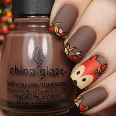 Reinforce Your Nails With Fall Nail Art Barbaramo .- Reinforce your nails with Fall Nail Art - Simple Nail Art Designs, Fall Nail Designs, Cute Nail Designs, Easy Nail Art, Cool Nail Art, Nails Design Autumn, Fall Nail Art Autumn, Nail Art For Fall, Brown Nail Designs
