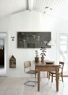my scandinavian home: Our Tiny Swedish Holiday Cabin: Exterior Inspiration Dining Area, Dining Table, Dining Rooms, Architecture Design, Swedish Cottage, Summer Cabins, Little Cottages, Scandinavian Home, Decoration